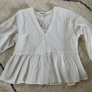 Madewell Babydoll style Blouse